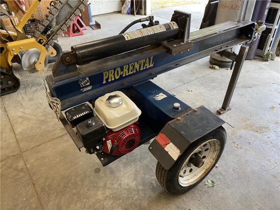 IRON & OAK 20-TON WOOD SPLITTER HONDA GX160 GAS ENGINE, S/N: S008333