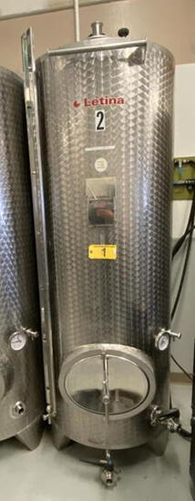 2015 LETINA MODEL Z1000HV8 1000-LITER (264-GAL) CLOSED JACKETED STAINLESS STEEL TANK, S/N: 140914/47