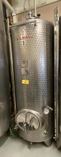 2013 LETINA MODEL Z1000HV8 1000-LITER (264-GAL) CLOSED JACKETED STAINLESS STEEL TANK, S/N: 127113/48
