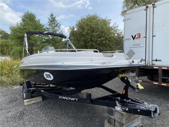 NEW 2019 STARCRAFT LIMITED 1915 OB DECKBOAT, 8.5' BEAM, 115HP EVINRUDE OUTBOARD, SINGLE AXLE TRAILER
