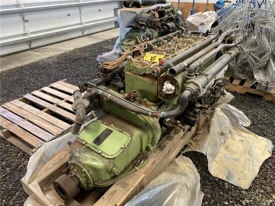 (2) 1943 STERLING PETREL MODEL L-6, 6-CYLINDER MARINE ENGINES, 225HP, GAS, S/N: L61352 & L61899