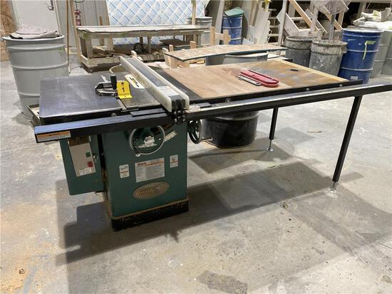 """GRIZZLY MODEL G1023SLW 10"""" LEFT-TILT TABLE SAW W/ ROUTER BASE. 3-PHOTOS"""