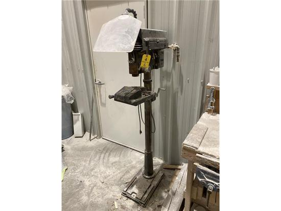 DAYTON FLOOR DRILL PRESS (APPEARS TO NEED SWITCH) 2-PHOTOS