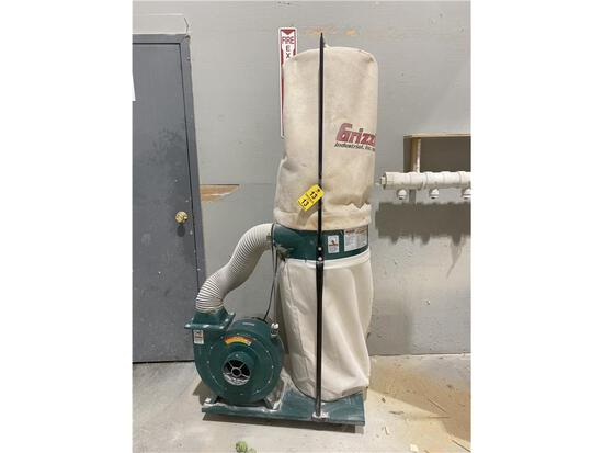 GRIZZLY MODEL G1029Z2 DUST COLLECTOR. 2-PHOTOS
