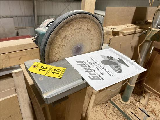 """GRIZZLY MODEL G7297 12"""" DISC SANDER, NO. 090315177"""