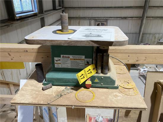 GRIZZLY MODEL G0538 OSCILLATING SPINDLE SANDER, 1/3HP
