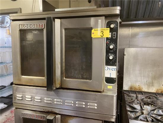 BLODGETT NATURAL GAS 2-DOOR CONVECTION OVEN, STAINLESS STEEL, S/N: 072803RA018T