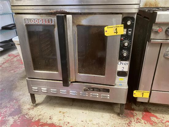 BLODGETT NATURAL GAS 2-DOOR CONVECTION OVEN, STAINLESS STEEL, S/N: 072863RA019B