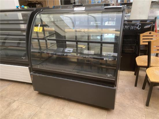 STRUCTURAL CONCEPTS ENCORE SERIES HV48R, REFRIGERATED CURVED GLASS DISPLAY CASE S/N: 428714 IN221146