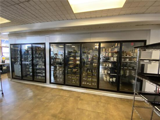"""3-PHASE 2010 THERMALRITE COMBO RETAIL WALK-IN COOLER/FREEZER, 22'W X8'D X 8'6""""HREMOTE REFRIGERATION"""