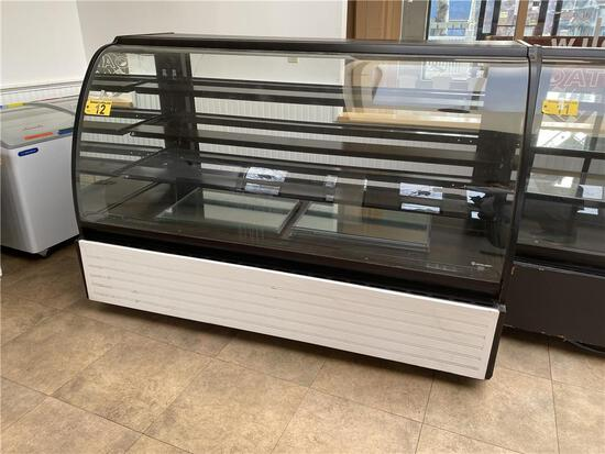 STRUCTURAL CONCEPTS ENCORE SERIES HV74R, REFRIGERATED CURVED GLASS DISPLAY CASE S/N: 912269 JK165317