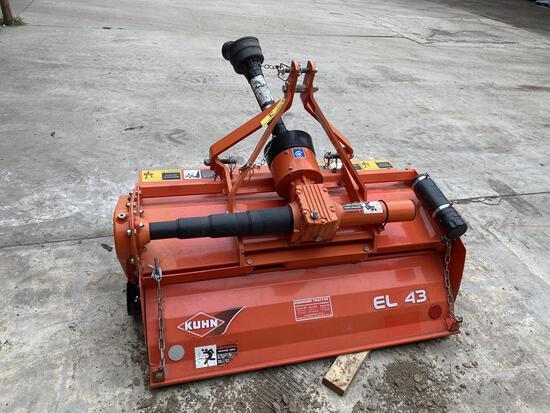 2019 KUHN MODEL EL43130 4' POWER TILLER, 3-POINT HITCH, PTO DRIVE, S/N: B2455
