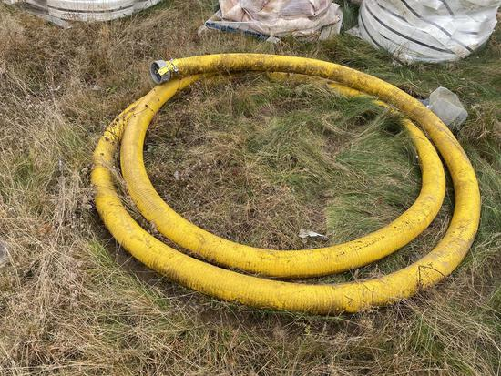 """4"""" X 42'+/- WATER SUCTION & DISCHARGE HOSE, W/ ALUMINUM COUPLINGS"""