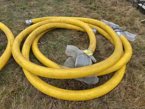 """(2) 4"""" X 25'+/- WATER SUCTION & DISCHARGE HOSES, W/ ALUMINUM COUPLINGS"""