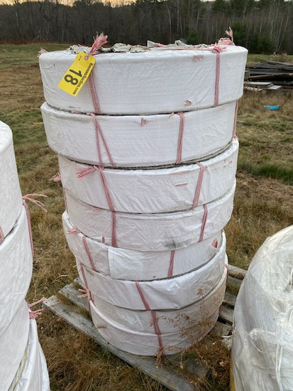 """(8) NEW ROLLS OF NEW 4"""" X 300' LAY FLAT DISCHARGE HOSE"""