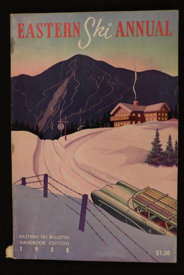 FRAMED VINTAGE 1958 SKI POSTER - $100 VALUE