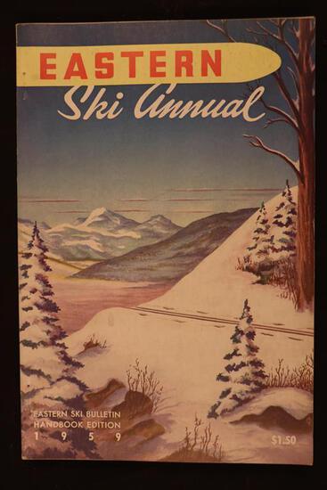 FRAMED VINTAGE 1959 SKI POSTER - $100 VALUE