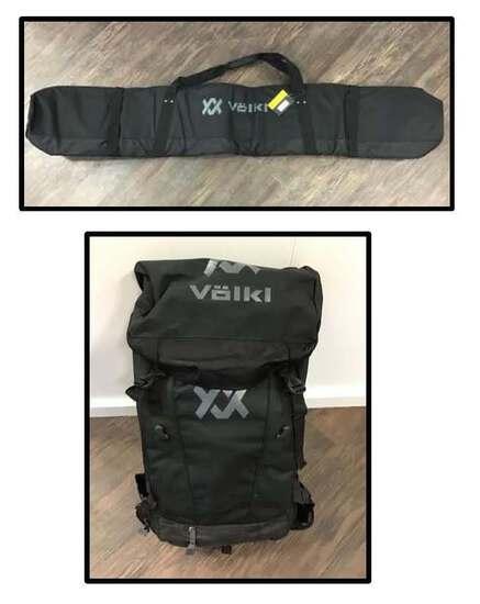 VOLKL RACE PACK BACKPACK & SINGLE SKI BAG DONATED BY AARON REIS, VOLKL - VALUE $200