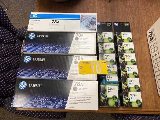 LOT OF PRINTER SUPPLIES: (4) HP LASERJET 78A PRINT CARTRIDGES (FOR HP LASERJET PRO P1566/P1606)
