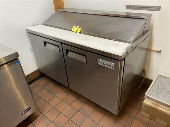 """2015 SUPERA MODEL SSPT2R6-1 60"""" S/S REFRIGERATED SANDWICH PREP TABLE"""