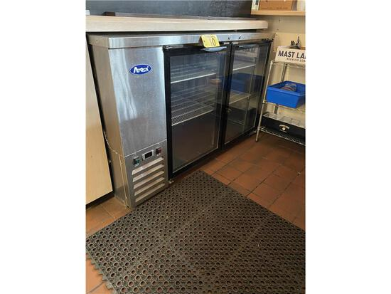 "2018 ATOSA MODEL MBB59G 59"" S/S GLASS DOOR BACK BAR COLLER"