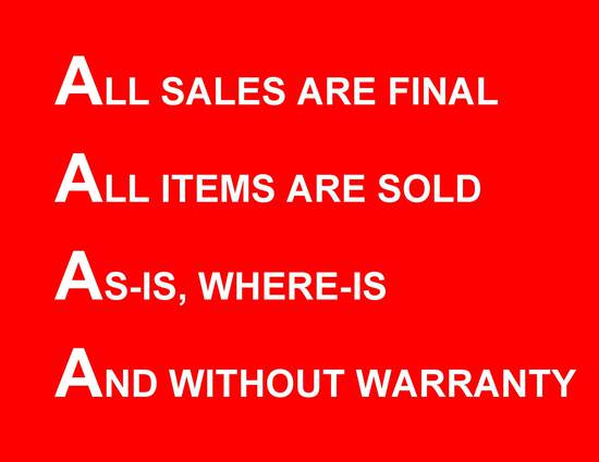 ALL SALES ARE FINAL