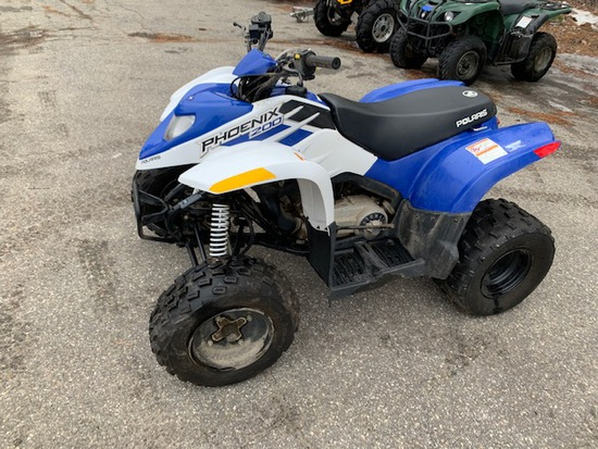 2013 POLARIS PHOENIX 200 ATV, S/N: RF3PB20A8ET004167