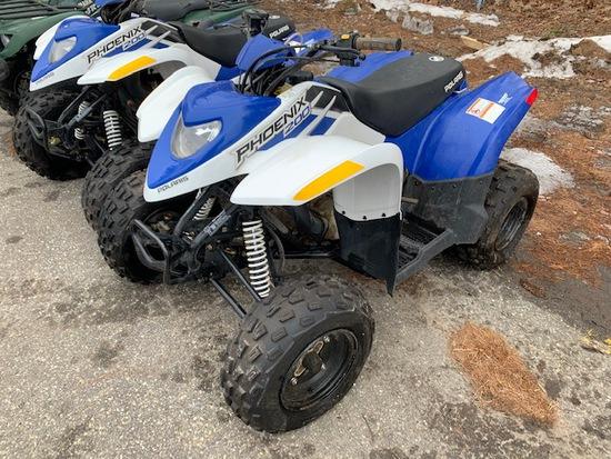 2014 POLARIS PHOENIX 200 ATV, S/N: RF3PB20A4ET004943
