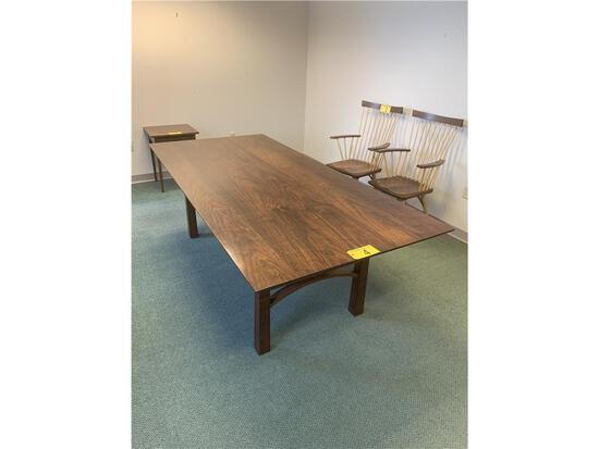 """THOS. MOSER AMERICAN BUNGALOW DINING TABLE, 42W"""" X 90L"""" X 30""""H"""