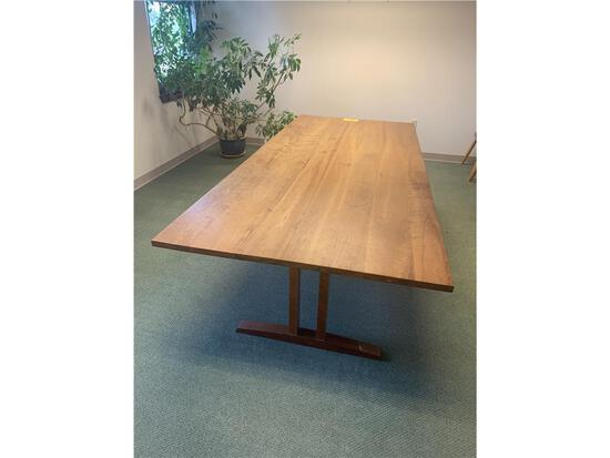 "THOS. MOSER TRESTLE TABLE, 41.5""W X 95.75""L X 30""H"