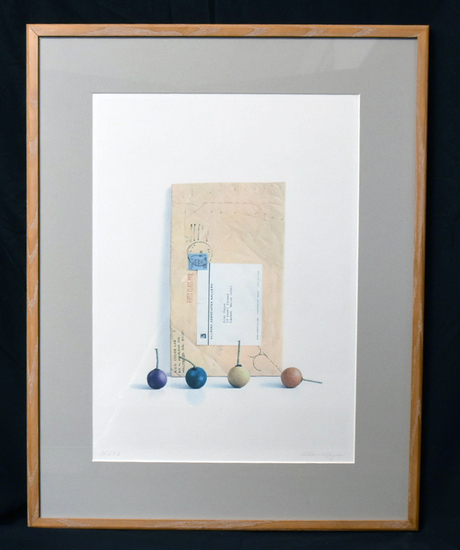 """""""SMOKE BALLS"""" PENCIL SIGNED PRINT, 9/275 BY ALAN MAGEE, SINGLE MATTED AND FRAMED 20.5 X 26"""
