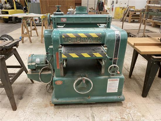"POWERMATIC MODEL 221 SINGLE SURFACE PLANER, 20"" X 8"" CAPACITY, 220/240V, 3PH, W/ KNIFE GRINDER"