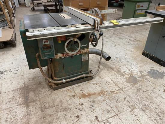 POWERMATIC MODEL 66 CABINET SAW, 1PH, W/ FENCE