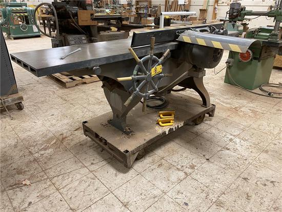 "NORTHFIELD JOINTER MODEL 16HD, 16"", 5HP, 3PH, W/ CART"