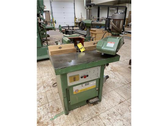 PAOLONI MACHINE MODEL T85O SHAPER TABLE 3PH, W/ NARDINA MODEL 48H POWER FEED, 3PH, MFG# 91015888