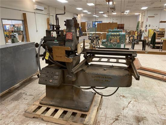 L. POWER & CO. SINGLE END TENONER, 3PH