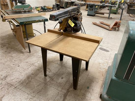 "DEWALT RADIAL ARM SAW, 12"", AUTOMATIC BRAKE, 2HP, 3PH"