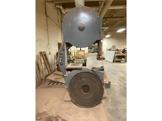 "TANNEWITZ MODEL G1 36"" VERTICAL BAND SAW, S/N: 8257, W/ REEVES VARIABLE SPEED DRIVE, 7.5HP, 3PH"