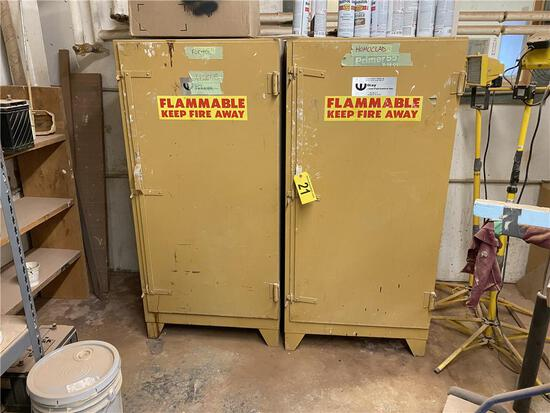 (2) WILRAY FLAMMABLE STORAGE CABINETS