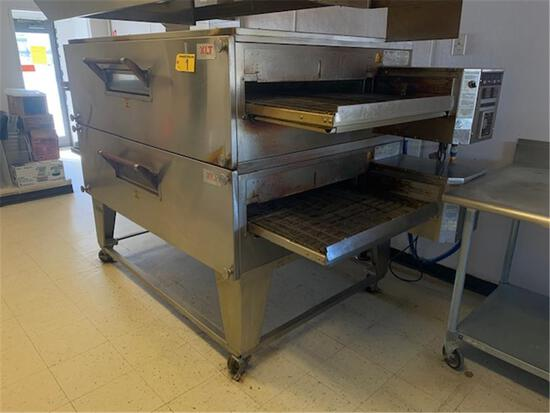 XLT DOUBLE PIZZA OVEN MODEL 320B-S-7332, 1PH, NATURAL GAS (BUYER TO DISCONNECT)