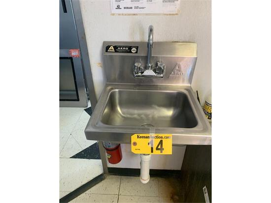 AERO STAINLESS STEEL HAND SINK (BUYER TO DISCONNECT)