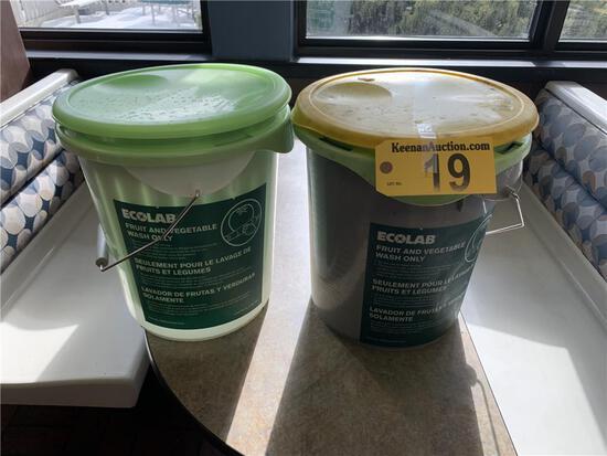 R-(2) ECOLAB VEGETABLE & FRUIT WASH BUCKETS