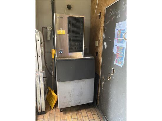 HOSHIZAKI KM515MAH ICE MACHINE W/ HOSHIZAKI B-500PF 500LB ICE BIN