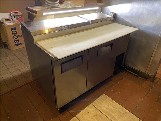 """TRUE TPP-60, 60"""" STAINLESS STEEL PIZZA PREP TABLE"""