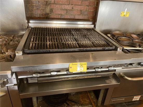 """MONTAGUE 36"""" S/S CHARBROILER, NATURAL GAS"""
