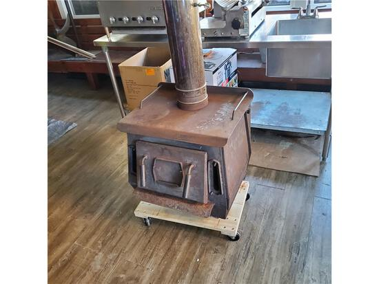 """COMPACT WOOD STOVE (APPROX. 24"""" X 27"""" X 25"""") WITH BLOWER FAN"""
