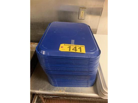 (36) PLASTIC HALF-SHEET PANS (not lot #141)