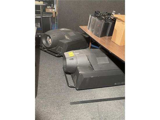 (2) SONY SRX-S110 DATA PROJECTOR: LEFT W/FRONT ELEVATION BRACKETS, PARTS PROJECTOR