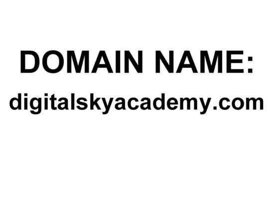 DOMAIN NAME: digitalskyacademy.com