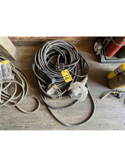 LOT: 2-WELDING HEAVY DUTY EXTENSION CORDS; 3-PRONG & 4-PRONG